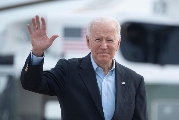 Biden lähti Washingtonista kohti Eurooppaa. Lehtikuva/AFP