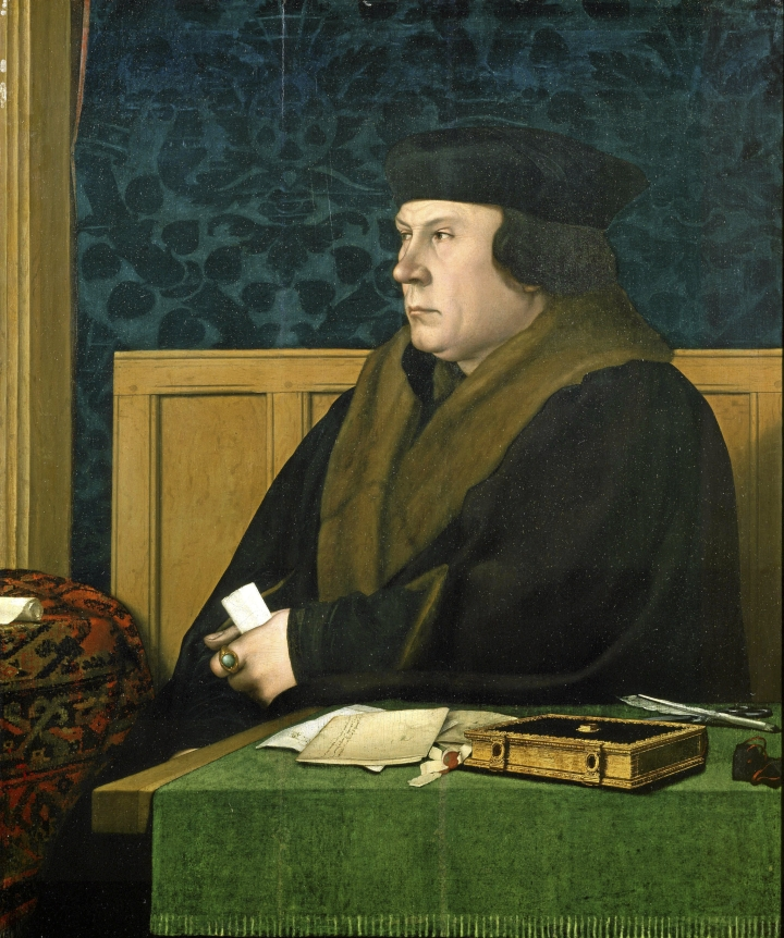Hilary Mantel käsittelee monimutkaisia historian ja vallan kysymyksiä Thomas Cromwellin (1485-1540) persoonan kautta. Kuvassa Cromwell Hans Holbeinin maalauksessa.