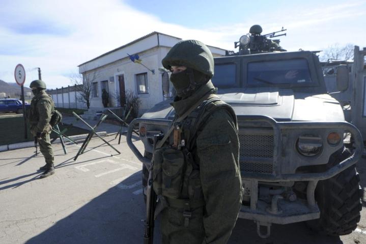 Venäjän puolustusministeriön mukaan välikohtaus sattui lähellä Krimin niemimaata. Venäjä on liittänyt Ukrainalle kuuluvan Krimin itseensä kansainvälisen oikeuden vastaisesti. LEHTIKUVA / Markku Ulander