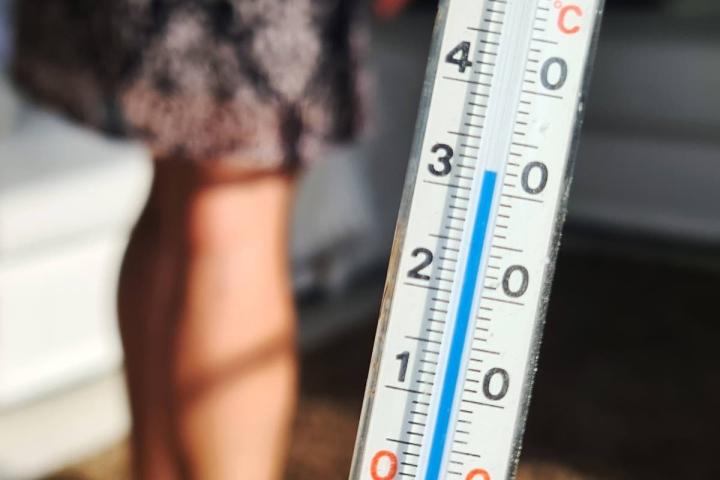 Joensuun Kotien vuokra-asunnon lämpötila torstain aikana.