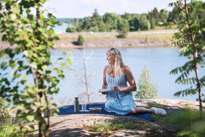 Ripsa Koskinen-Papunen pitää eväistä ja hyvästä ruuasta. Hän harrastaa liikuntaa kuutena päivänä viikossa.