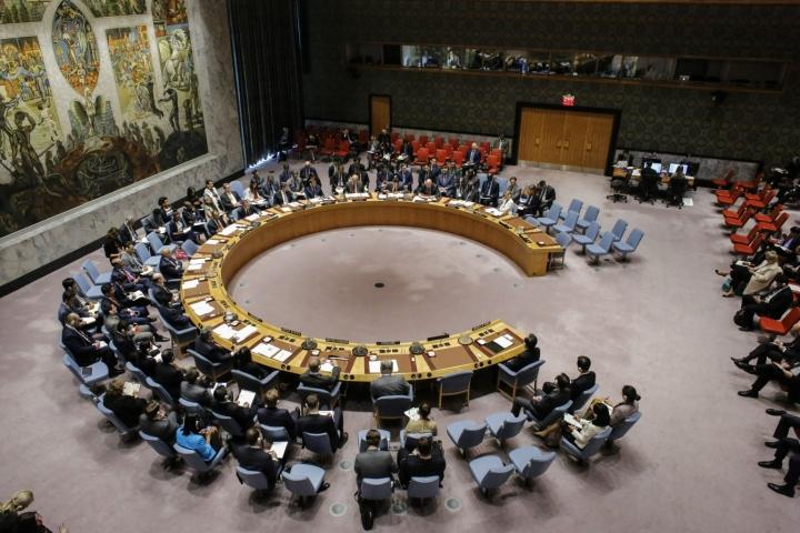 Kyberturvallisuus on ensi kertaa YK:n turvallisuusneuvoston julkisen kokouksen virallisena aiheena. LEHTIKUVA/AFP