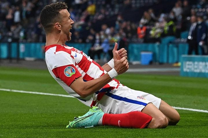 Perisic on tehnyt kolmessa EM-ottelussa kaksi maalia ja kuulunut Kroatian avainpelaajiin. Lehtikuva/AFP