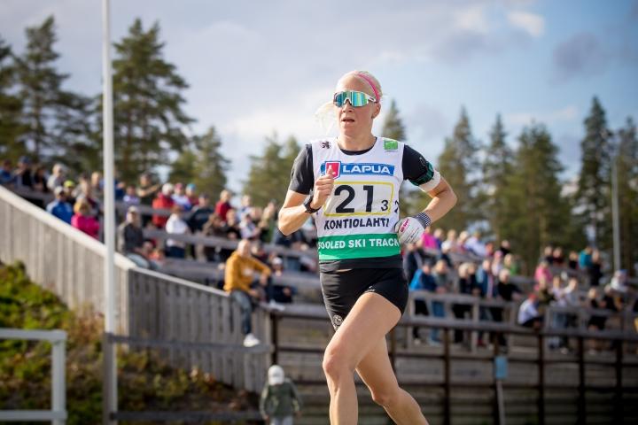 Kaisa Mäkäräinen (28) on osallistunut Jaama Runiin aiemminkin. Kuva vuodelta 2017.