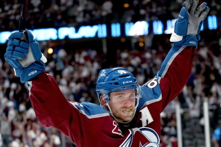 Maali oli Rantasen kolmas NHL:n tämän kauden pudotuspeleissä. LEHTIKUVA / AFP