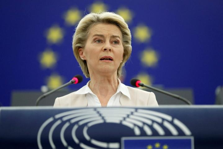 Von der Leyenin mukaan Unkarissa hyväksytty laki on EU:n perusarvojen vastainen LEHTIKUVA / AFP