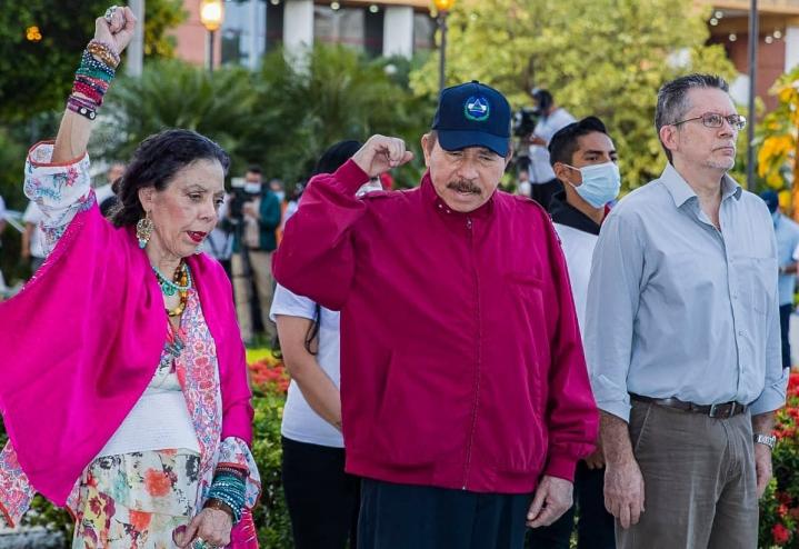 Korruptiosta ja nepotismista syytettyä Ortegaa on vaadittu luopumaan vallasta jo usean vuoden ajan. LEHTIKUVA/AFP