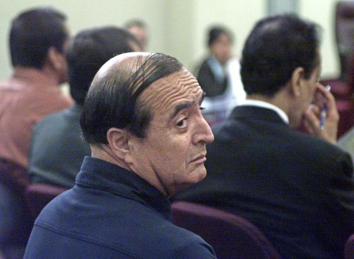 Vladimiro Montesinos ennen oikeudenkäyntiään helmikuussa 2004. LEHTIKUVA / AFP