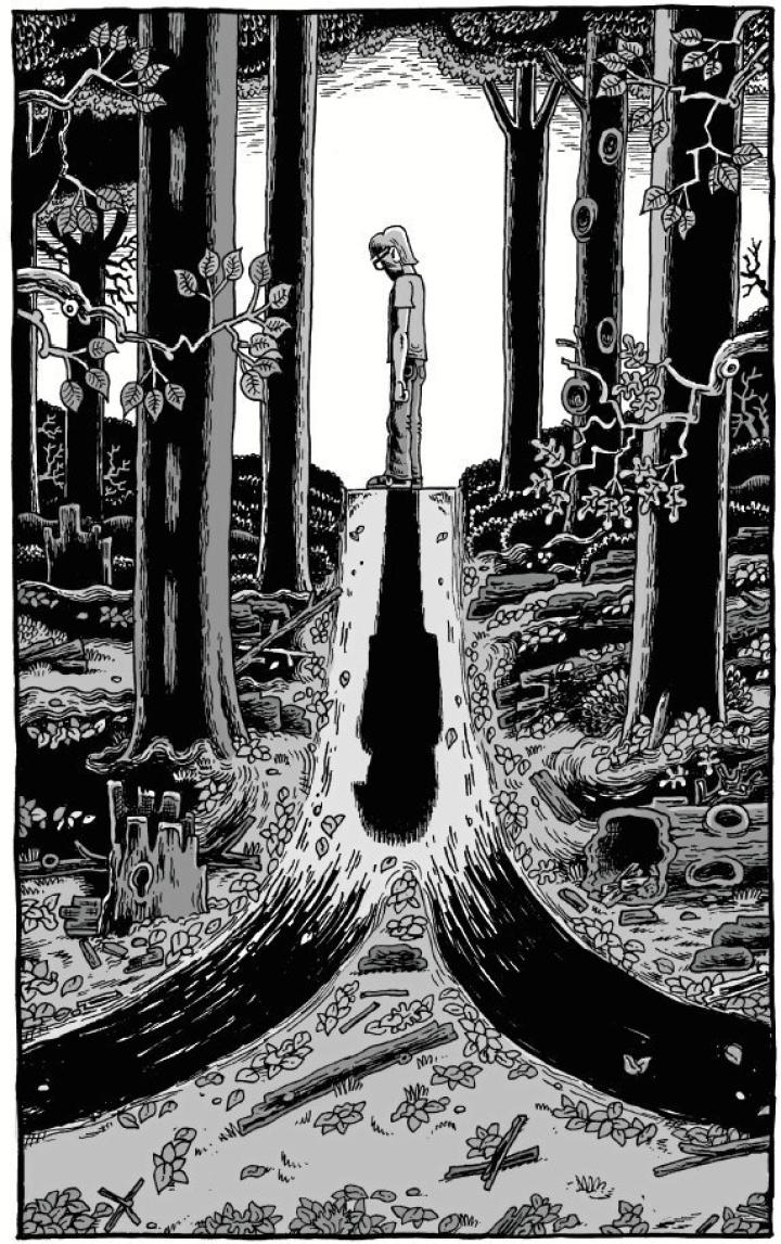 Derf Backderfin mustavalkoinen tyyli ammentaa underground-sarjakuvista.