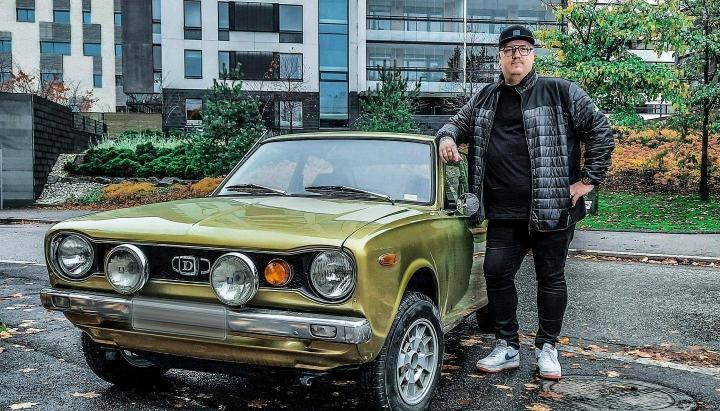 Datsun 100A päätyi Arttu Wiskarille kaverin kautta.