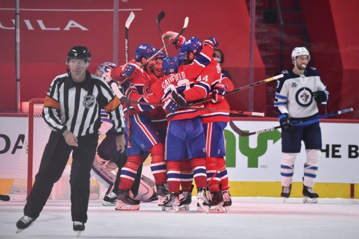 Montreal Canadiens pudotti Winnipeg Jetsin jatkosta voittamalla ottelusarjan 4–0. Viimeisessä ottelussa Montreal kaatoi Winnipegin 3–2 jatkoajalle venyneessä tasaisessa kamppailussa. LEHTIKUVA/AFP