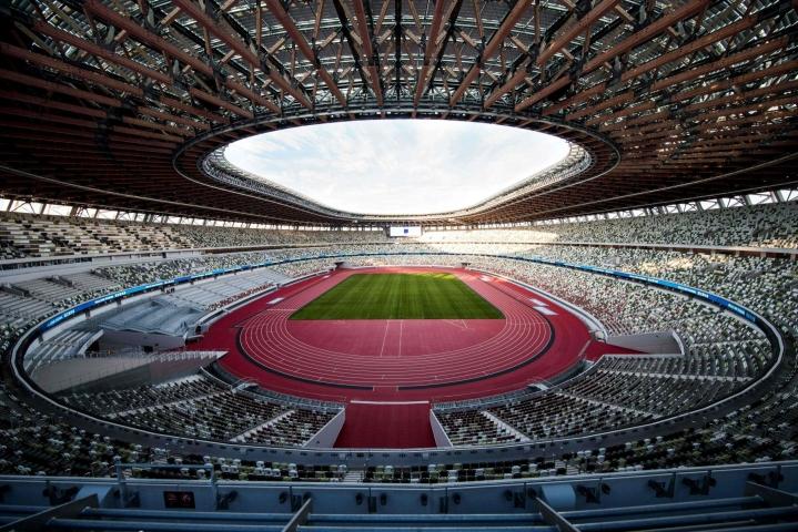 Käyttäytyminen katsomossa on tiukasti säädeltyä Tokion olympialaisissa. LEHTIKUVA/AFP