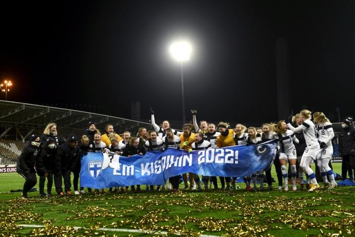 Naisten EM-lopputurnaus pelataan kesällä 2022 Englannissa.  LEHTIKUVA / EMMI KORHONEN