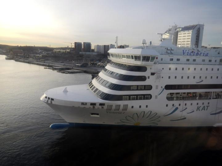 Tallinkin Victoria I liikennöi Marokon ja Ranskan sekä Marokon ja Italian väliä heinä–syyskuussa tänä vuonna. LEHTIKUVA / Miika Siltalahti