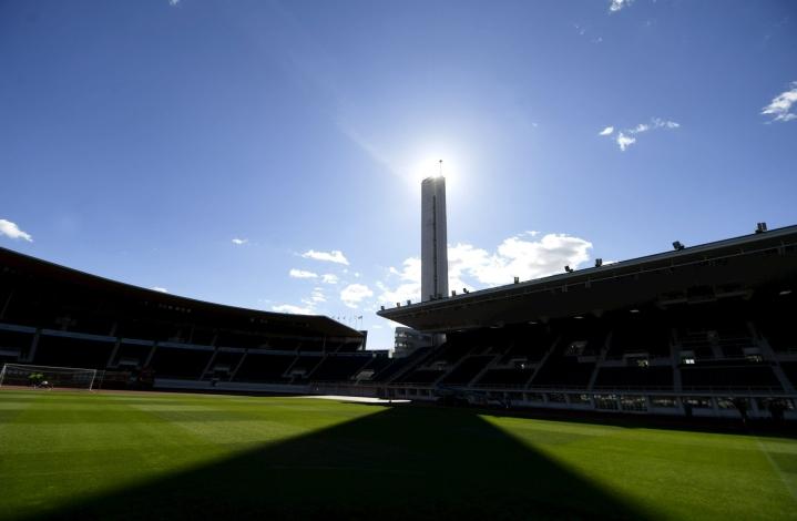 Palloliitto vahvisti keskiviikkona, että Olympiastadionille voidaan ottaa Huuhkajien Viro-kohtaamiseen yhteensä 1250 ihmistä 50 henkilön lohkoissa. LEHTIKUVA / VESA MOILANEN