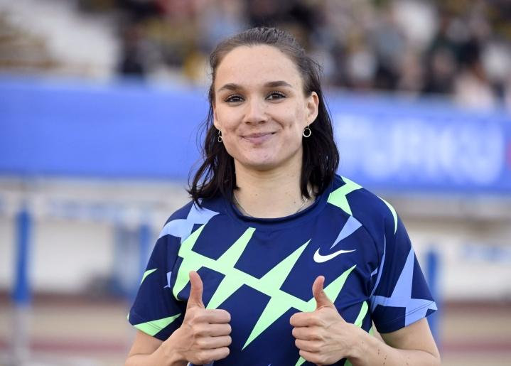 Kolmiloikan Suomen ennätyksen hypännyt Senni Salminen valittiin Suomen olympiajoukkueeseen. LEHTIKUVA / Vesa Moilanen