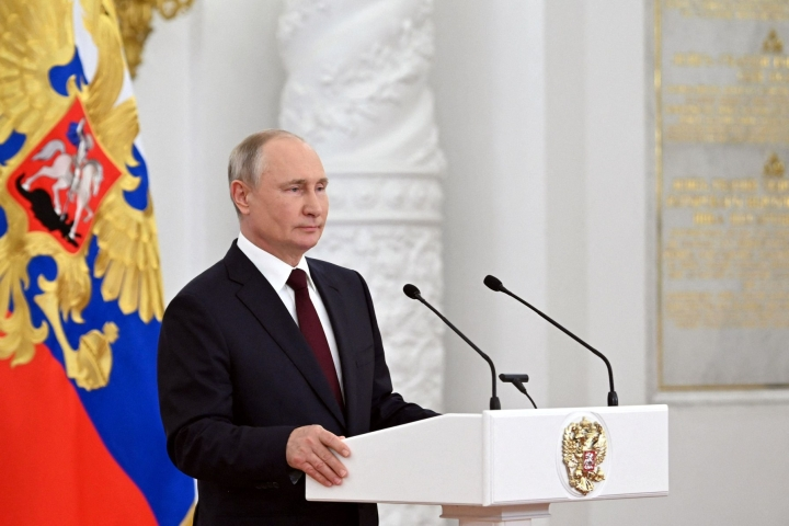 Venäläisen uutistoimisto Tassin mukaan Putinille lähetettiin toissa vuonna ohjelmaan vajaat 2,2 miljoonaa kysymystä ja viestiä. LEHTIKUVA / AFP