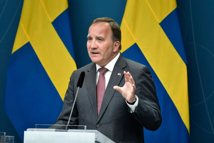 Ruotsi ajautui hallituskriisiin, kun Stefan Löfvenin (kuvassa) hallitus menetti äänestyksessä valtiopäivien luottamuksen. LEHTIKUVA/AFP