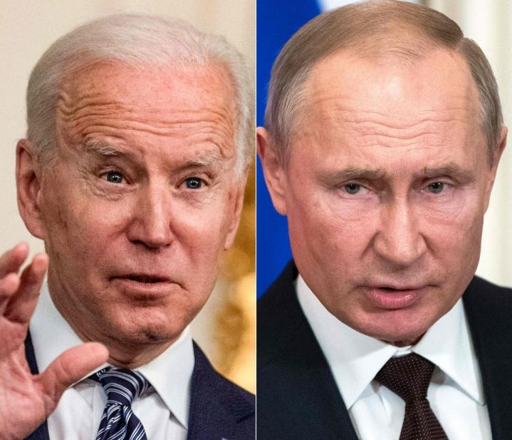 Yhdysvaltojen ja Venäjän suhde on ollut kireä jo pitkään. Vasemmalla Joe Biden, oikealla Vladimir Putin. LEHTIKUVA/AFP