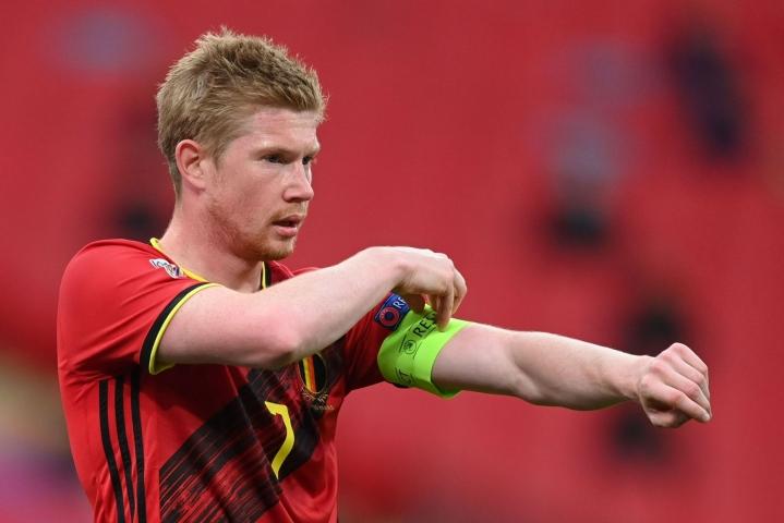 Belgia vahvisti De Bruynen pysyvän joukkueen majapaikassa, kun muu joukkue matkasi Pietariin. Kuva viime lokakuulta. LEHTIKUVA/AFP