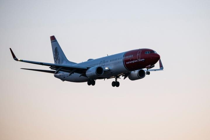 Norwegian alkaa 28. kesäkuuta lähtien lentää Helsinki-Vantaalta Osloon, Tukholmaan, Ouluun, Malagaan ja Alicanteen.  LEHTIKUVA / AFP