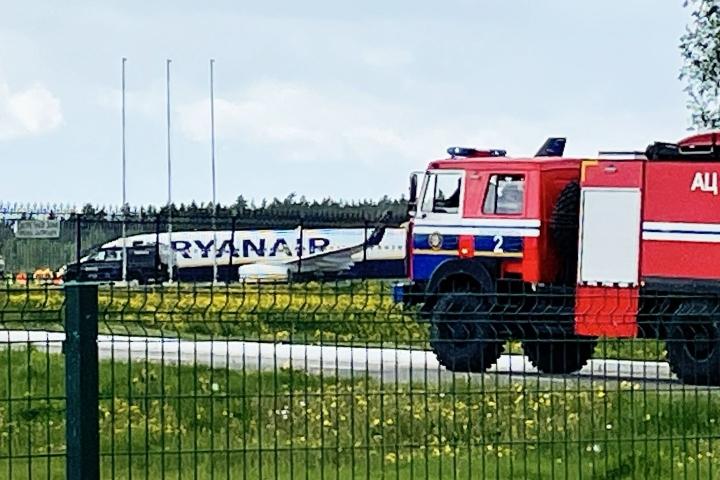 CHL perui villin kortin Valko-Venäjän mestaruusjoukkueelta. Päätöksessään liiga viittaa toukokuun lopun tapahtumiin, kun Valko-Venäjä pakotti lentokoneen laskeutumaan lentokentälleen.  LEHTIKUVA / AFP