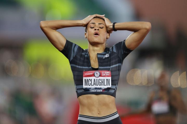 21-vuotias McLaughlin on ensimmäinen nainen, joka on juossut alle 52 sekunnin ajan. LEHTIKUVA/AFP