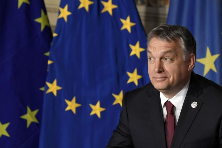 EU-tuomioistuin on hylännyt Unkarin kanteen oikeusvaltiomenettelyn käynnistämisestä maata vastaan. Kuvassa Unkarin pääministeri Viktor Orban. LEHTIKUVA / AFP