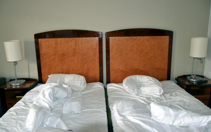 Hotellit olivat toukokuussa yhä melko tyhjillään myös suurissa kaupungeissa. LEHTIKUVA / EIJA KONTIO