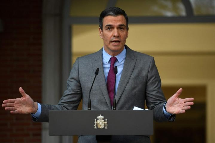 Espanjaa pääministeri Pedro Sanchez sanoo, ettei maata hallitseva sosialistipuolue salli koskaan kansanäänestystä Katalonian itsenäisyydestä. LEHTIKUVA/AFP