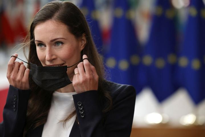 Marin muistutti, että kaikki jäsenmaat ovat sitoutuneet EU:n perussopimuksissa yhteisiin arvoihin. LEHTIKUVA/AFP