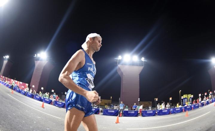 Jarkko Kinnusen osallistuminen neljänsiin olympiakisoihinsa näyttää hyvin todennäköiseltä. LEHTIKUVA / MARTTI KAINULAINEN