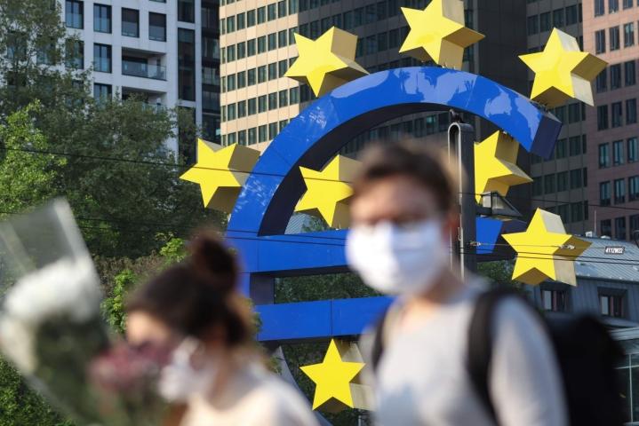 EKP:n tavoitteena on pitää inflaatio hieman alle kahdessa prosentissa.  LEHTIKUVA/AFP