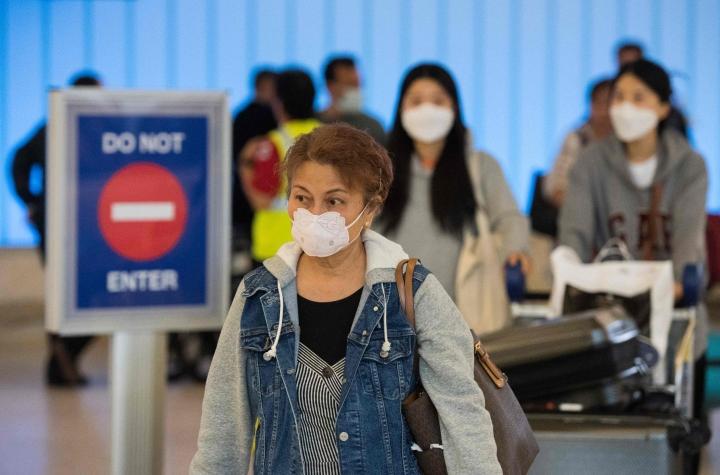 Yhdysvaltain on määrä keskustella Kanadan, Meksikon, Euroopan unionin ja Britannian kanssa kansainvälisen matkustamisen jatkamisesta pandemian hellittäessä. LEHTIKUVA / AFP