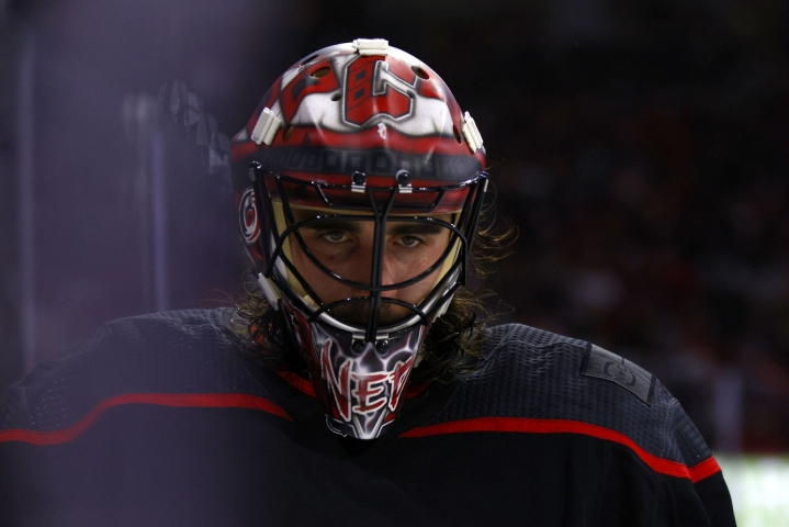 Carolina Hurricanesin Alex Nedeljkovic on ehdolla NHL:n tulokkaaksi. LEHTIKUVA/AFP