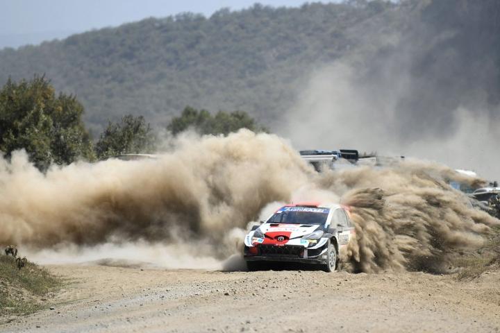 Toyotan Kalle Rovanperä sijoittui kuudenneksi. Lehtikuva/AFP