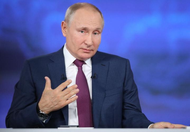 Venäjän presidentti Vladimir Putin ei kannata valtakunnallisia pakollisia koronarokotuksia. LEHTIKUVA/AFP
