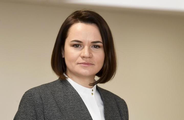 Kuudesta syytetystä tunnetuin on maanpaossa olevan oppositiojohtajan Svjatlana Tsihanouskajan aviomies. LEHTIKUVA / VESA MOILANEN