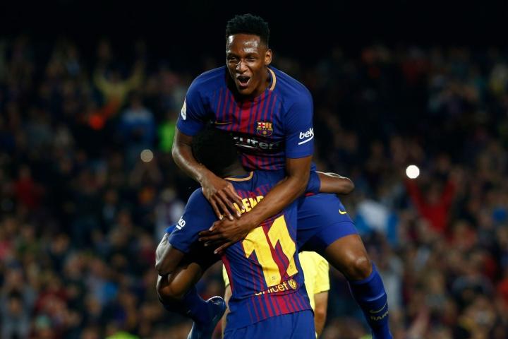 Ranskan maajoukkueen ja Barcelonan laitahyökkääjä Ousmane Dembele leikattiin eilen Turussa. LEHTIKUVA/AFP