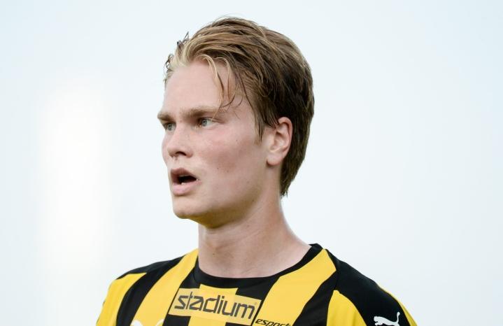 Hongan Matias Rale teki ottelun 2-1 voittomaalin illan ottelussa Hakaa vastaan. Lehtikuva / Mikko Stig