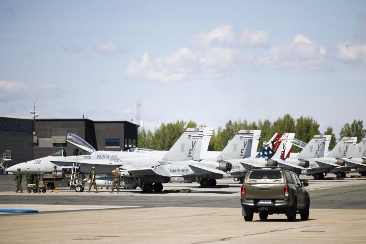 Lentotoiminta ulottuu pääasiassa noin 200 kilometrin etäisyydelle Rissalan tukikohdasta, Ilmavoimat kertoo. LEHTIKUVA / Matias Honkamaa