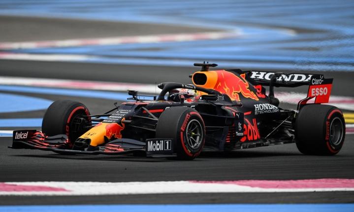 Verstappen ajoi Le Castellet'n formularadalla harjoitusten nopeimman ajan. LEHTIKUVA/AFP