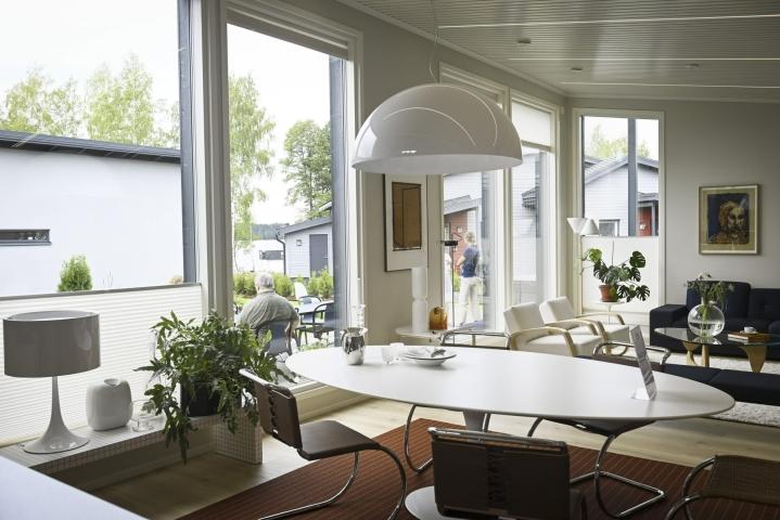 Lohjan asuntomessut alkavat tänään Lohjanjärven rannassa Hiidensalmessa. LEHTIKUVA / Emmi Korhonen