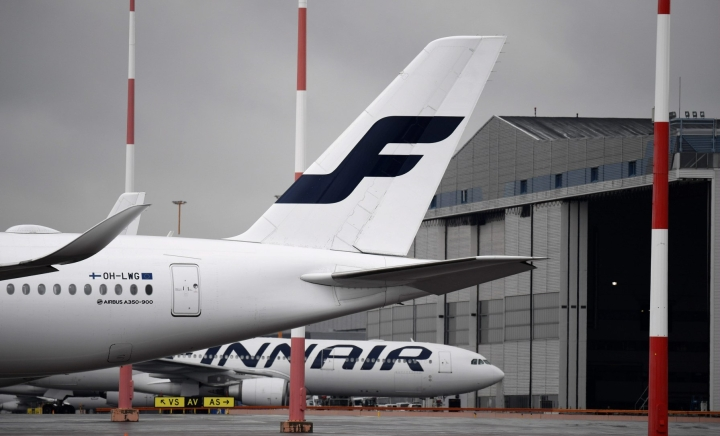 Finnairin mukaan Tukholmasta aloitettavat lennot työllistävät noin 270 ihmistä Suomessa. LEHTIKUVA / VESA MOILANEN