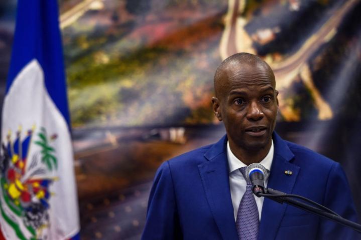 Jovenel Moise oli kuollessaan 53-vuotias. Hän toimi Haitin presidenttinä vuodesta 2017. Kuva tammikuulta 2020. LEHTIKUVA/AFP