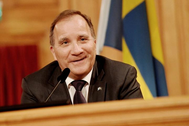 Ruotsi ajautui hallituskriisiin kesäkuussa, kun Löfvenin johtama edellinen hallitus sai epäluottamuksen valtiopäiviltä. LEHTIKUVA/AFP
