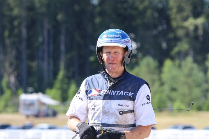 Lahden Suur-Hollola-ravien viikonvaihteen toisena kisapäivänä Pekka Korven Hotshot Luca oli nopein. LEHTIKUVA / HANDOUT