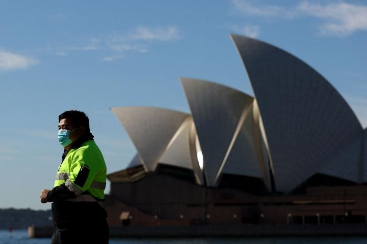 Sydneyn koronasulun oli määrä päättyä perjantaina, mutta päättymisajankohtaa on lykätty heinäkuun loppuun. Lehtikuva/AFP