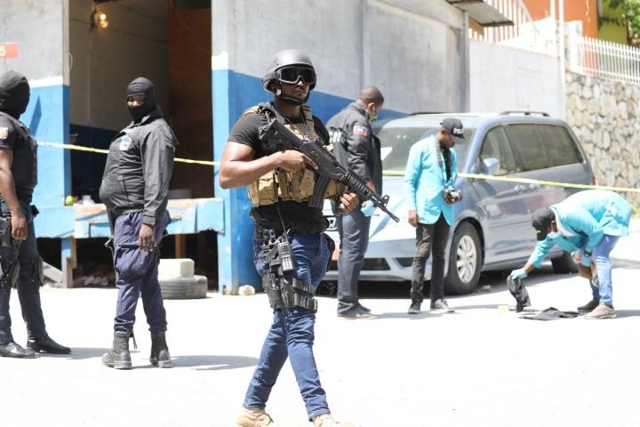 Haitin presidentti Jovenel Moise salamurhattiin tällä viikolla. Salamurha on suistanut maan kaaokseen. LEHTIKUVA/AFP