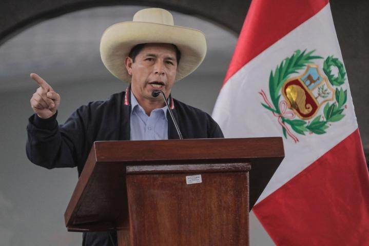 Vasemmistolaisesta Pedro Castillosta on tulossa Perun seuraava presidentti. Arkistokuva. LEHTIKUVA / AFP